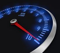 speedometer - stock illustration