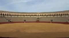 The Plaza de Toros de la Maestranza (bull ring), in Seville, Andalusia, Spain. Stock Footage
