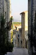 Sight of the french village of vezenobres in the department of gard Stock Photos