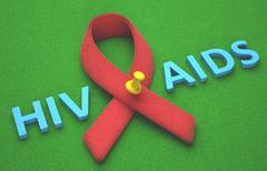 Red Ribbon AIDS Stock Illustration