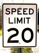 speed limit 20 - stock photo