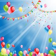 Celebration background with balloons Stock Illustration