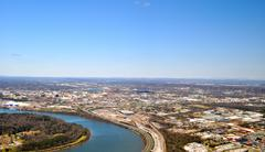 Tennessee river on left Stock Photos