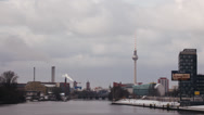 Stock Video Footage of Time lapse Berlin skyline in Winter