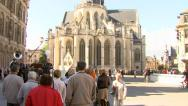 Stock Video Footage of People watching an act in Leuven (Belgium)