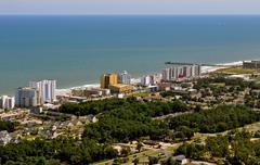 Etelään Myrtle Beach - beachscape view-1 Kuvituskuvat