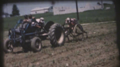 Vintage 1950's Farming corn field ,family Stock Footage