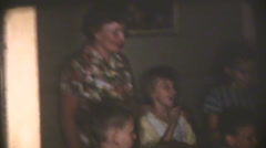 1950's  vintage, birthday party Stock Footage