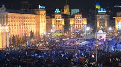Majdan Nezalezhnosti. Kiev. Ukraine Stock Footage