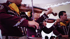 Mariachi playing a violin Stock Footage