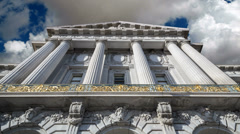 San Francisco City Hall with Time Lapse Clouds Stock Footage