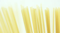 Food Spaghetti in a pot spinning macro shot. Stock Footage