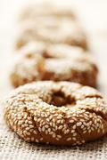 fresh wholegrain bread - stock photo
