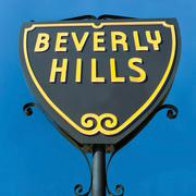 Beverly hills sign in los angeles close-up view Stock Photos