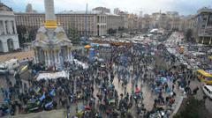Majdan Nezalezhnosti Stock Footage