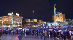 Meeting on the Maidan Nezalezhnosti Stock Footage