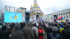 Miting on the Maidan Stock Footage