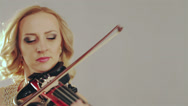 Stock Video Footage of Young girl playing violin