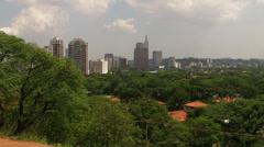 Panoramic View of Sao Paulo Stock Footage