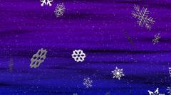 Snowy Blue Violet Loop Stock Footage