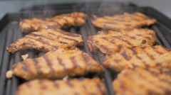 BBQ meat - Grilling - stock footage