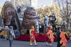 Gavin DeGraw on ocean spray float in 2013 Macy's Parade Stock Photos