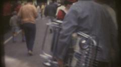 vintage  movies 8mm, Skunk Train - stock footage