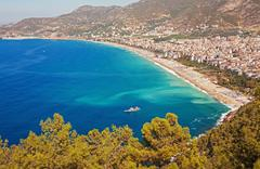Kleopatra Beach Alanya Turkey Stock Photos