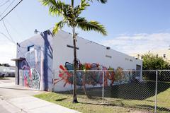 Art Walls at the Wynwood Design District Stock Photos