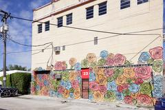 Artistic Mural in Miami - stock photo
