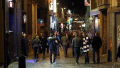 Outside Liverpool's Famous Cavern Club 01 - stock footage