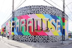 Remember Paradise at Wynwood Design District - stock photo