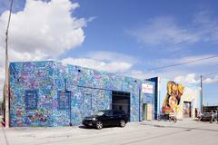 Art Murals in Miami Stock Photos