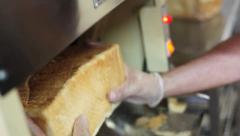 Bread Slicing Machine Stock Footage