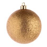 Golden christmas ball Stock Photos
