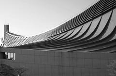 free form roof of yoyogi national gymnasium - stock photo