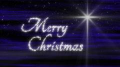 Starlight  Merry Christmas Loop - stock footage