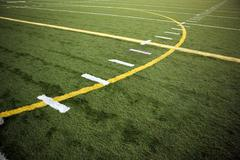 A slanted playing field , football concepts - stock photo