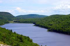 valley lake - stock photo