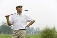Stock Photo of Portrait of a male Golfer