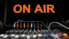"""MIXING BOARD """"ON AIR"""" Stock Footage"""