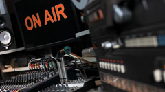 """CONTROL ROOM """"ON AIR"""" Stock Footage"""
