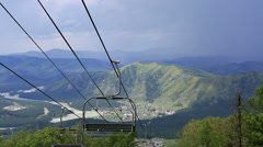 Ski chairlift on mount shallow sinyuha. altai republic. Stock Footage