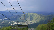 Stock Video Footage of ski chairlift on mount shallow sinyuha. altai republic.