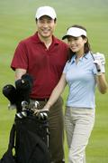 Stock Photo of Portrait of Two Golfers