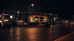 Cardiff City Football Club Stadium at Night - stock footage
