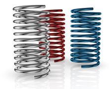 steel springs - stock illustration