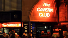 The Cavern Club, Liverpool - Famous English Music Venue Stock Footage
