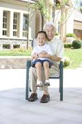 Stock Photo of Portrait of grandfather and grandson