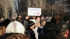 Protest action in Dnepropetrovsk Stock Footage